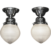 Vintage Holophane Ceiling Lighting Fixtures 2 available priced each