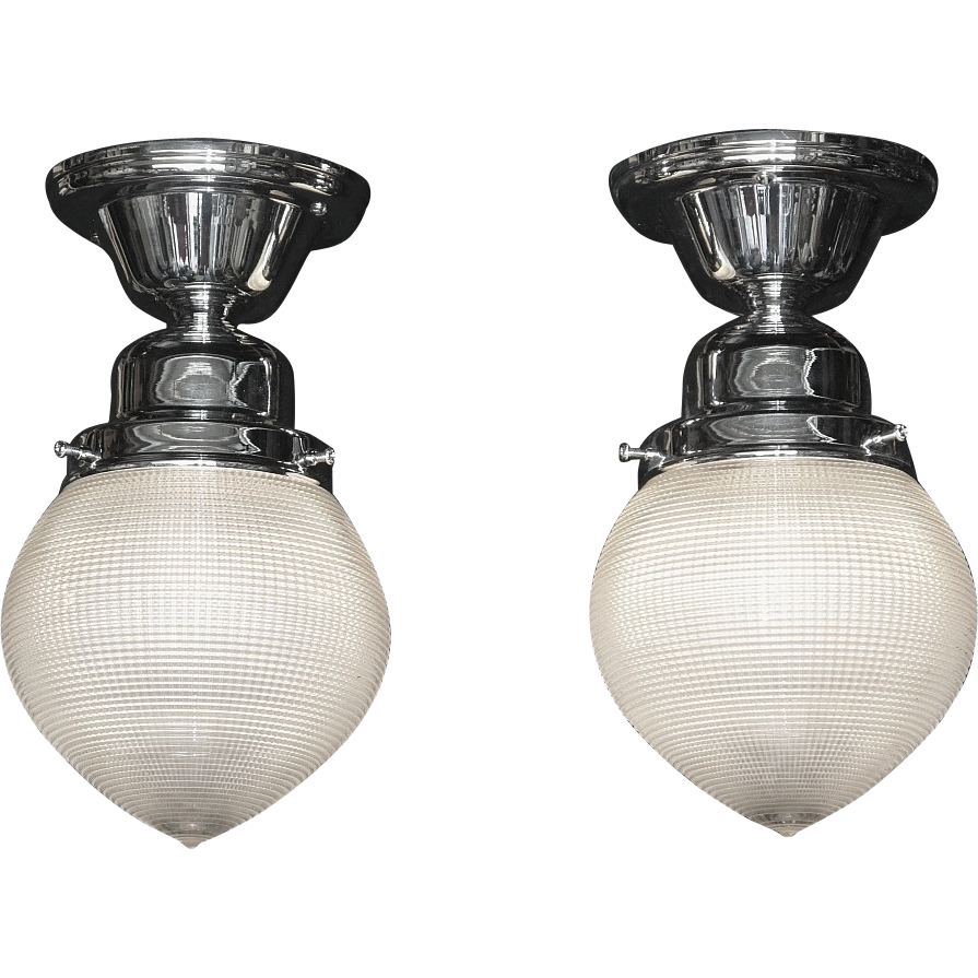 Lighting Fixtures Online: Vintage Holophane Ceiling Lighting Fixtures 2 Available
