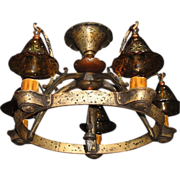 Vintage Tudor Storybook Semi-Flush Ceiling Lighting Fixture