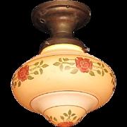 Vintage Arts & Crafts Bungalow Rose Ceiling Fixture