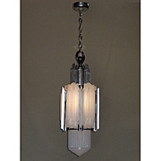 Four Foot Centerpiece Art Deco Rocket Chandelier