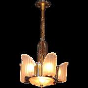 6 Shade Art Deco Lighting Fixture C.1930
