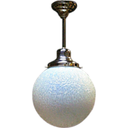 Vintage Ice Blue Opalescent 12 inch Globe, 3 available, priced each