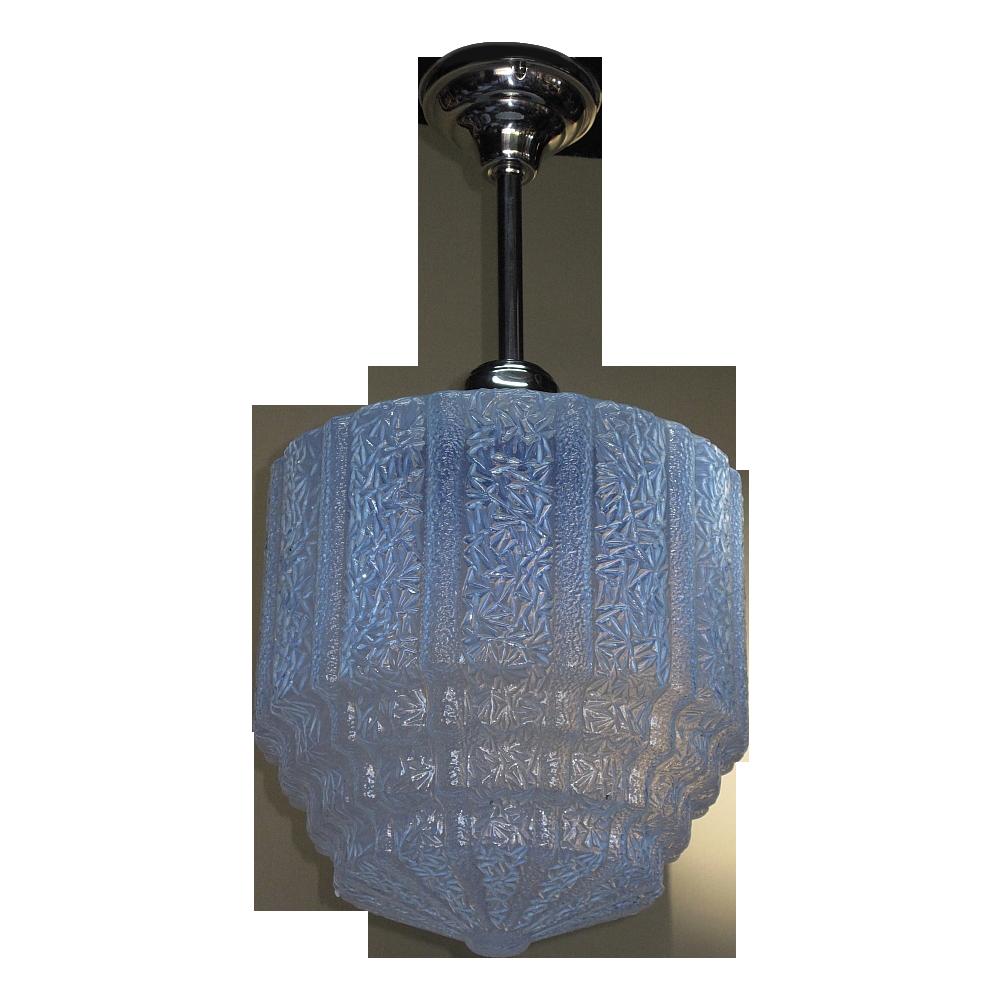 Furniture Stores Prescott Az Large Vintage Blue Ice Ceiling Fixture from vintagelights-online on ...