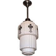 Large Vintage Hanging Fixture from Mid-West Church