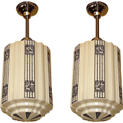Large Art Deco Commercial Fixtures priced each