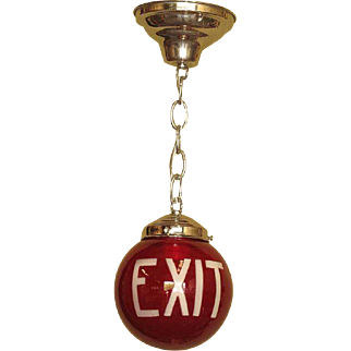 Early Ruby Red Round Exit Globe