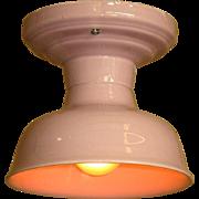 Lavender/Pink Porcelain Ceiling Fixture 20s - 30s