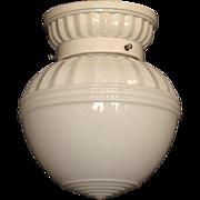 White Milk Glass on Matching White Porcelain Fitter
