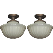 Pair Camphor Glass Shades