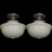 Pair Camphor Glass Shades
