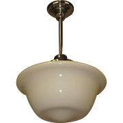 Single Large Schoolhouse Ceiling Fixture Electric