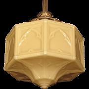 Large Moorish Custard Globe 1920s