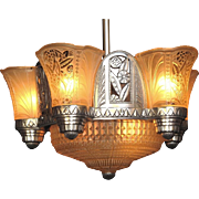 Fabulous Late 20s Art Deco Chandelier