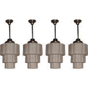 Vintage Deco Electric School House Ceiling Fixtures 4 available