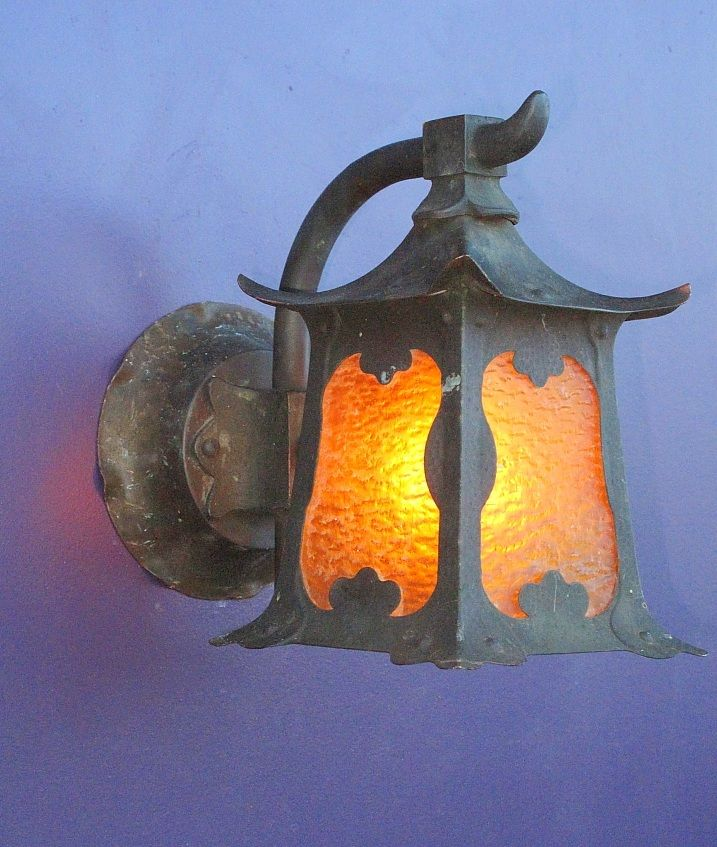 asian inspired arts crafts porch light from