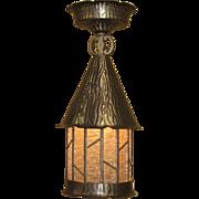 1920s Pewter Porch Light