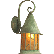 "Large 15"" Copper Porch Light"