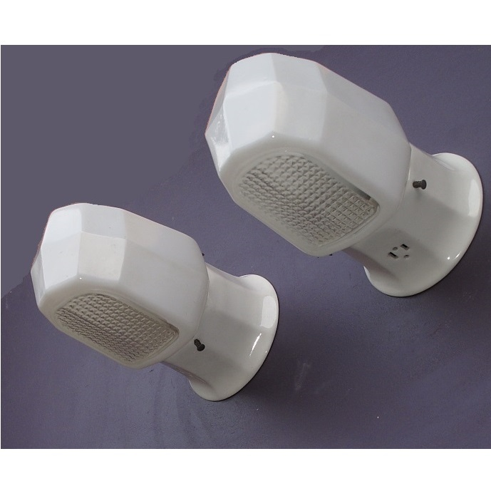 Pair Vintage Enclosed Shade Bathroom Kitchen Wall Lighting