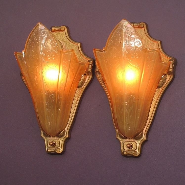 Art Deco Wall Sconces perfect home theater art deco vintage wall sconces from