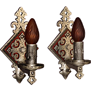 20s -30s Spanish Revival Style Single Bulb Wall Fixtures 5 available Priced per pair