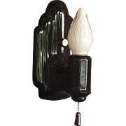 Black Porcelain Wall Sconce 1920s -1930s