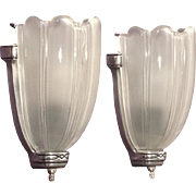 Vintage Art Deco Sconces Pair +
