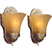 Art Deco Sconces 1930s