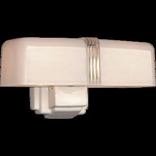 6 available - 2 Bulb Porcelain Bathroom Sconce 1930s