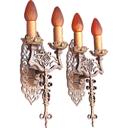 Spanish Revival Sconces Late 1920s