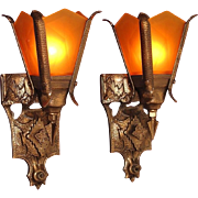 3 Gothic Revival Style Sconces priced per pair
