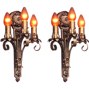 Moe Bridges 3 Bulb Cast Iron Sconce 6 available priced each