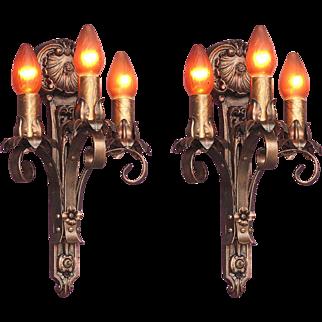 Moe Bridges 3 Bulb Cast Iron Sconce 6 available priced per pair