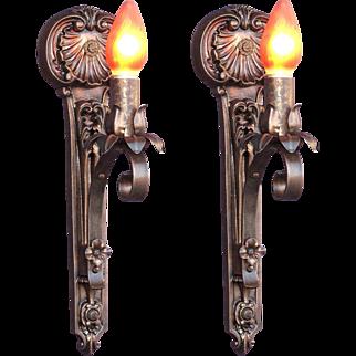 Moe Bridges Single Bulb Cast Iron Sconce 14 available priced per pair