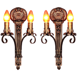 Moe Bridges 2 Bulb Cast Iron Sconce 8 available priced per pair