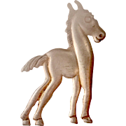 Very Cute Vintage Sterling Horse Pin Brooch