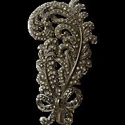 Large 3 1/4 Inch Rhinestone Pin Brooch