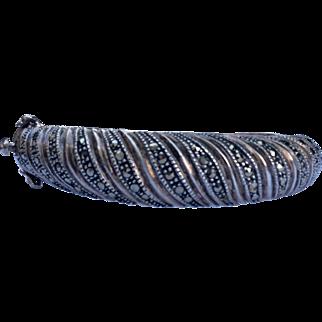 Nice Heavy Sterling Silver Marcasite Bracelet 23.4 grams