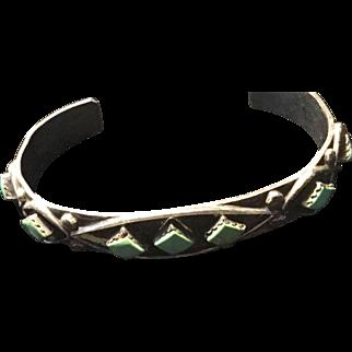 Vintage Native Turquoise Sterling Bracelet