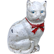 Vintage Kitty Cat Cast Iron Bank Statue