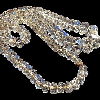 "A+ Art Deco Crystal Heavy Graduating Necklace 30"""