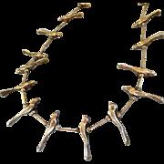 """Vintage Sterling Silver Bird fetish Necklace Unisex 26"""""""