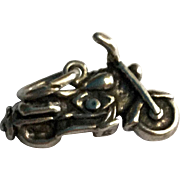 Harley Davidson Sterling Silver Motorcycle Charm