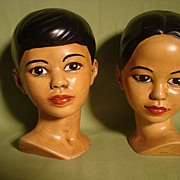 Holland Mold Polynesian Boy and Girl