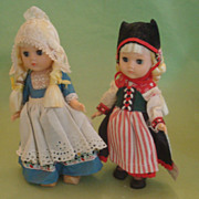 Vintage 1960's Vogue Ginny Dolls Scandinavia Netherlands