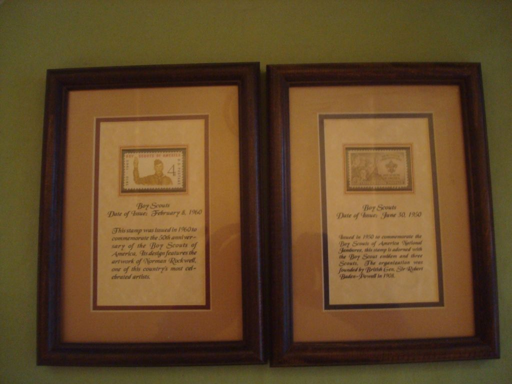 Boy Scout BSA Framed Commemorative Stamp Set