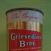 Vintage Griesedieck Bros. Light Lager Flat Top Oklahoma Beer Can