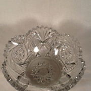 Heisey Crystal Color Pineapple & Fan (aka 1255) Glass Bowl
