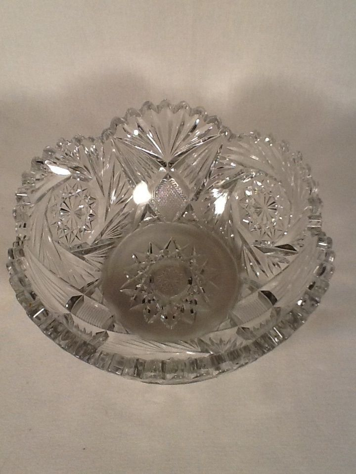 Heisey Crystal Color Pineapple Amp Fan Aka1255 Bowl From