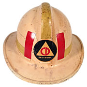 Vintage Civil Defense Fire Helmet Oklahoma